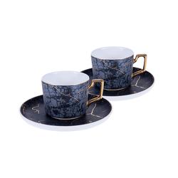 Gönül 2 Kişilik Kahve Fincan Takımı Siyah