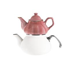 Emsan İzmir Porselenli Çaydanlık Pembe