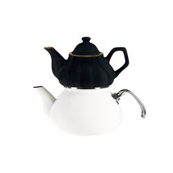 Emsan İzmir Porselenli Çaydanlık Siyah