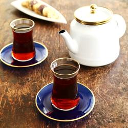 Emsan Heybeli 12 Parça 6 Kişilik Çay Seti Kobalt