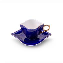 Sonsuz Aşk 2 Kişilik Kahve Fincan Takımı Kobalt
