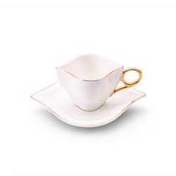 Sonsuz Aşk 2 Kişilik Kahve Fincan Takımı Beyaz