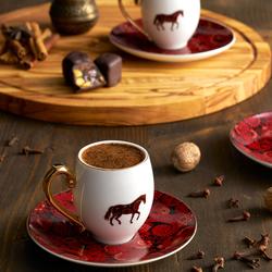 Aşkar 2 Kişilik Kahve Fincan Takımı