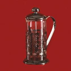 Coffee Bean French Press Black Flower 350 Ml