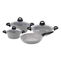 Premium Granit 7 Parça Tencere Seti Grey