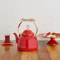 Emsan Troy Vintage Kırmızı Kettle