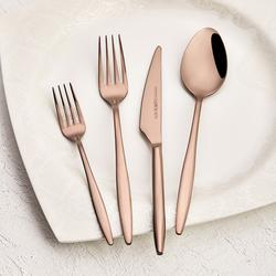Emsan Goldinoks Rose Gold 6 Kişilik 24 Parça Çatal Kaşık Bıçak Seti