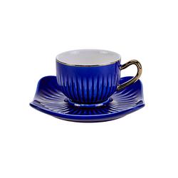 Emsan Nasip 6lı Mavi Kahve Fincan Takımı