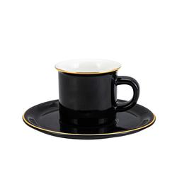 Emsan Kısmet 6lı Siyah Kahve Fincan Takımı