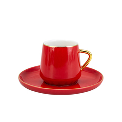 Emsan Kıymet 6lı Kırmızı Kahve Fincan Takımı