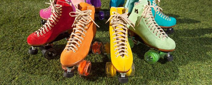 Moxi quad roller skates gummy juicy wheels