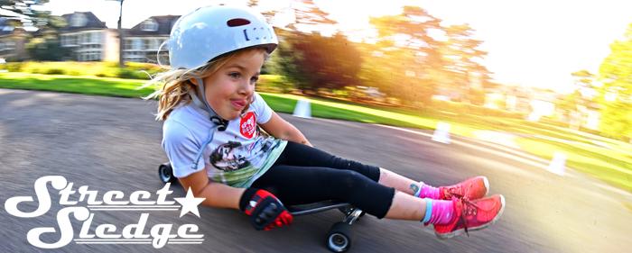 Street Sledge go kart sledging skate buttboard