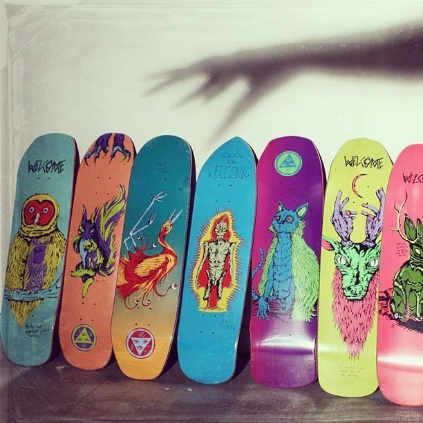 Welcome Skateboards lineup
