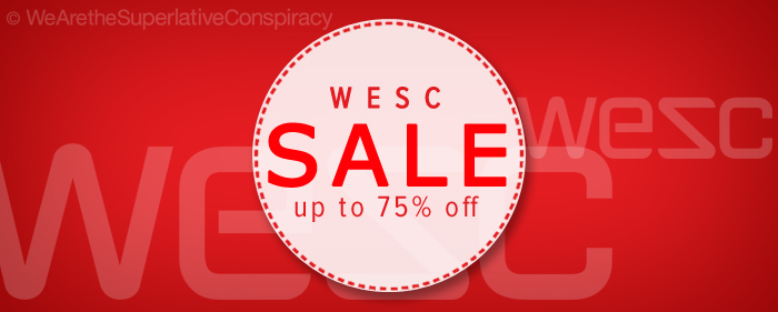 WESC superlative conspiracy clothing sale 75% off
