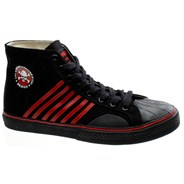 Duane Peters Hi Top 6-Stripe Black/Red Shoe