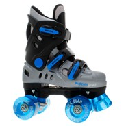 New Phoenix Blue/Silver Quad Roller Skates