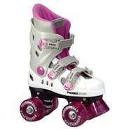 New Phoenix Pink/White Kids Quad Roller Skates