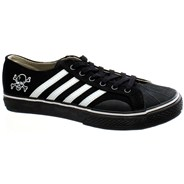 Duane Peters Lo Top 4-Stripe Black/White Shoe