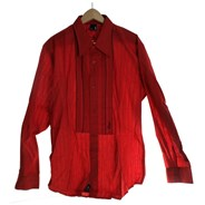 Greco Ruffle L/S Shirt - Red