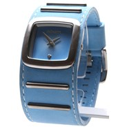 The Duchess Watch - Light Blue Suede - SALE - 50% Off