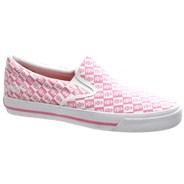 Misfits Fiend Slip on Pink/White Checker Shoe