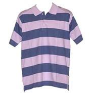 Wide Stripe S/S Polo Shirt