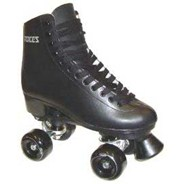 BFP Black Leather Quad Roller Skates