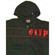 Red Stripe Zip Hood