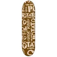 Brown Potato Logo Skateboard Deck