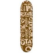 Brown Potato Logo Skateboard Deck