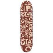 Red Potato Logo Skateboard Deck