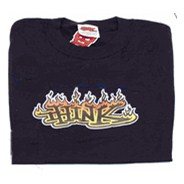 Flame Logo Youths S/S T-Shirt - Black