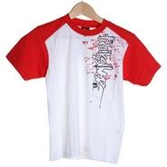 Dripped Neck Peek Kids S/S T-Shirt