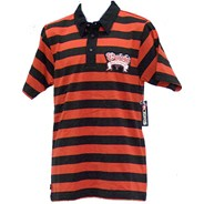 Riot S/S Polo Shirt - Black/Red