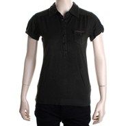 Siren S/S Girls Polo Shirt - Black Olive