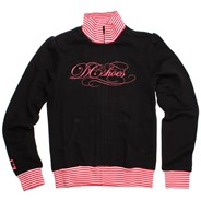 Gracia Black/Raspberry Full Zip Crew