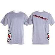 Random Bar Cross S/S T-Shirt - Athletic Grey