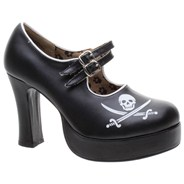 Pirate Platform Black Girls Shoe