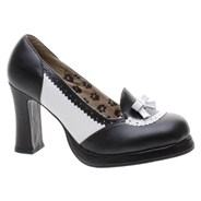 Spectator Loafer Black/White Girls Shoe