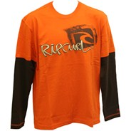 Crantock L/S T-Shirt - Spicy Orange