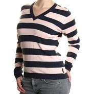 V-neck Fine Knit Girls Sweater