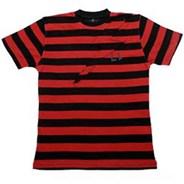 Striped Bolt S/S T-Shirt - Red/Black