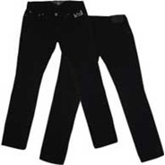 Fairbanks Black/Orange Jeans