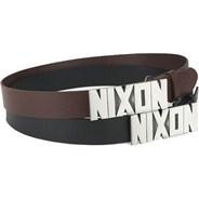 Block Buckle Leather Belt