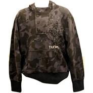 Milton Fashion Hoody - Black Camo