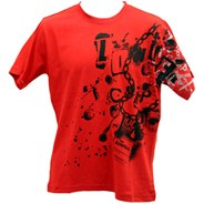 Collage S/S T-Shirt - Red