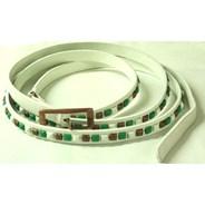 Forum White Leather Belt