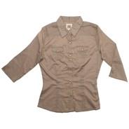 Suzie Q 3/4 Solid Shirt - Sage