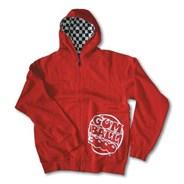 Grind Red Zip Hoody