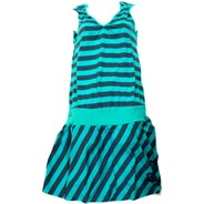 Madonna Orion Blue Striped Dress